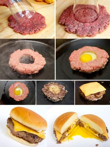 Genius-Food-Ideas-Burgers-with-Eggs